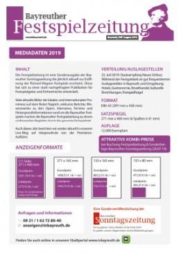 Mediadaten Festspielzeitung Bayreuth